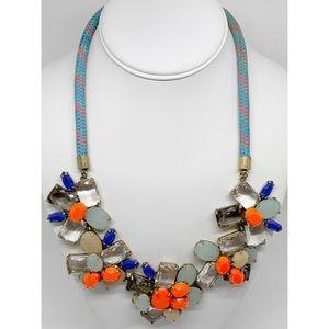 J. Crew Rhinestone Corded Necklace